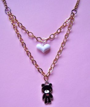 Love for gloomy bear necklace by Quirkz
