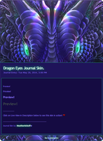 Dragon Eyes Journal Skin. by Zaellrin
