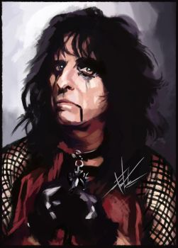 Alice Cooper /15th of halloween by tomsacoolcat