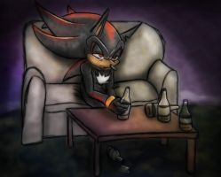 I think you may have a drinking problem, Shadow by theOrangeSunflower