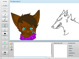 Collab on Iscribble by kittensinconverse
