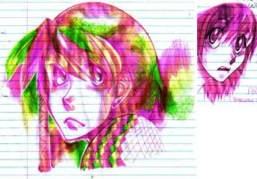 Doodles pink by EliciaElric