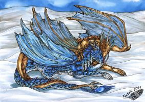 Lying in the Snow by Natoli