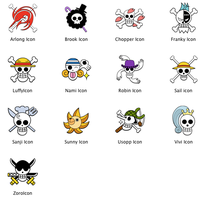 One Piece Icons by zerocustom1989
