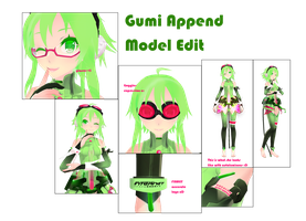 [MMD] Gumi Append V4 Edit Finished c: by Xhiao-Yuu