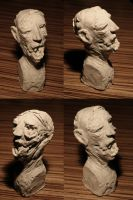Zombie sculpey head by torvenius