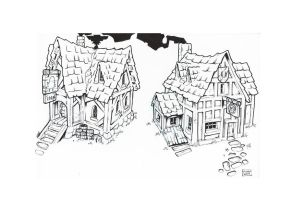 Medieval inn study by Tatonkus