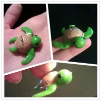 Cute Baby Sea Turtle Charm by juliennerox