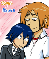 Persona 4: Junes x Prince by BladeXD