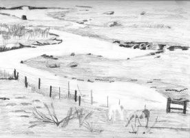 zigzag river, sketch by muridaee