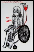 Wheelchair Girl with Tutorial with BIC by RedStar-Sama