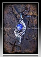 'An other world' sterling silver pendant by seralune