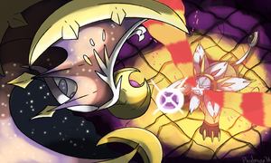 Lunaala vs Solgaleo by Phatmon
