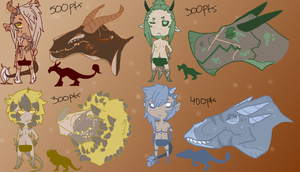 Dragon boys Adoptables (closed) by BootsyWootsy