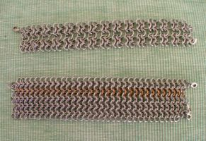 Chain Maille bracelets 1 by Marcusstratus