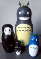 Ghibli dolls by crimsomnia