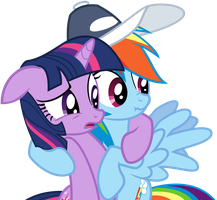 Twilight Dashie awkward hug by uxyd