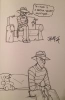 Freddy sketches by Rinkusu001