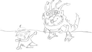 Kog Maw and Teemo by straightx