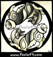 Ying Yang Dogs - Keeshond by Foxfeather248