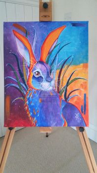 Colourful Hare Painting by 4lisx