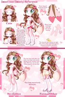 Sweety Reference~(Anthro form) by Sweetloverabbit