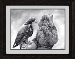 Man and Eagle by JamesCreations