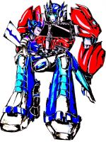 .:PC:. Crovin and Optimus Prime by Micelux