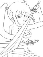 Erza scarlet - Fairy tail lineart by danithax
