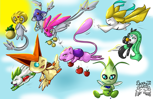 Legendary fruit race +Pokemon+ by iSapphirus