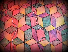 stairs square flolife w dots by santosam81