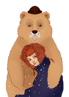 Girl and Bizarre Bear by 33-3