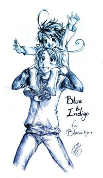 10-Blue and Indigo by SaiyaGina