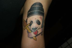 Panda baby tattoo by EricTatt