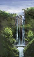 Water Fall - Sketch by mediamaster