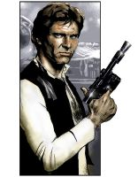 Han Solo :Study In Three 3 by salvagion