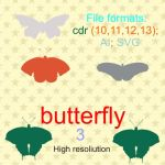 butterfly vectors 3b by feniksas4