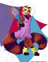 Redpanda On Colored Background by havicAP28
