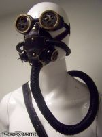 Steampunk mask, goggles, and tank w/belt by TwoHornsUnited