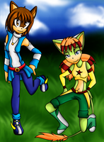 Collab: Melinda and Astra by AurulentSoul