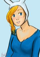 Fionna the human speed paint by SaraV-Art