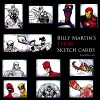 THOR Sketch Cards Set 3 by Bloodzilla-Billy