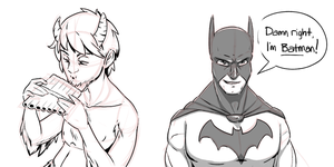 Bust Characters B and W by stinawo