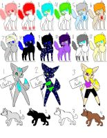 Mixed Adopts 4 by TwilightLuv10