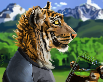 Hiking Tiger by swishchee