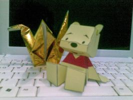 pooh papercraft by Grim-paper