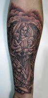 boys and the angel tattoo by primitive-art