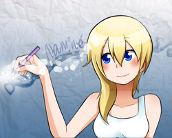 Namine wallpaper by cat-doodle
