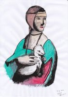 the lady with an ermine by dianna7