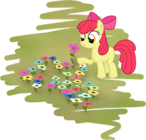 Apple Bloom planting flowers by moemneop